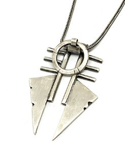 Silver Blood Warrior Necklace