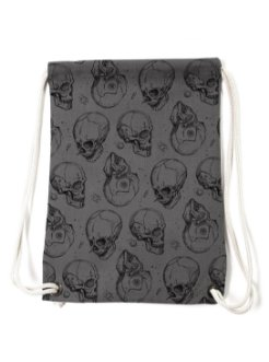 skull bagpack grey black