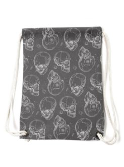 skull bagpack grey white