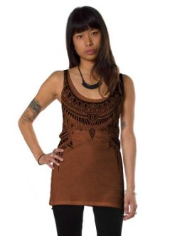 Cleopatra Orange Open Back Tank Top