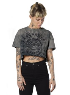 KALI WOMEN TAI DAI CROP T-SHIRT