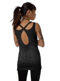 Women psychedelic wear -  Black sleeveless t shirt