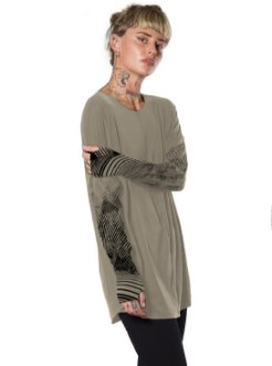 unisex long sleeves alternative shirt