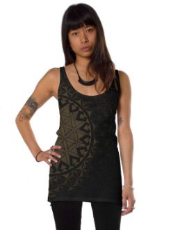 Prahna Black Open Back Tank Top