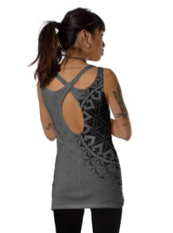 Prahna Grey Open Back Tank Top