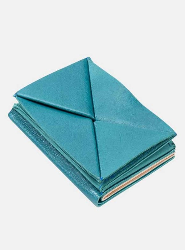 origami wallet- turquoise