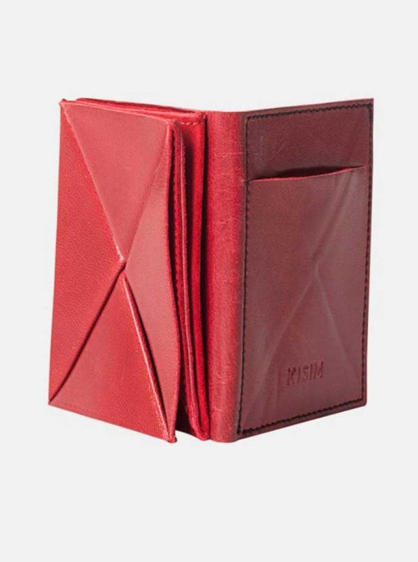 origami wallet- red