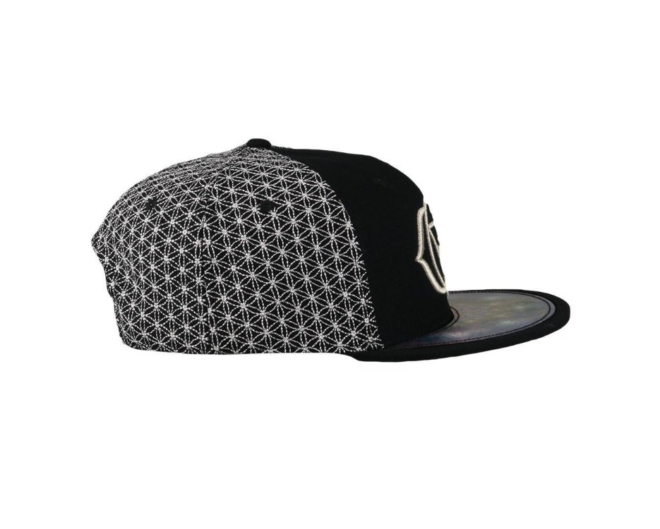 Laser Guided Visions Third Eye Silver Snapback Hat Black