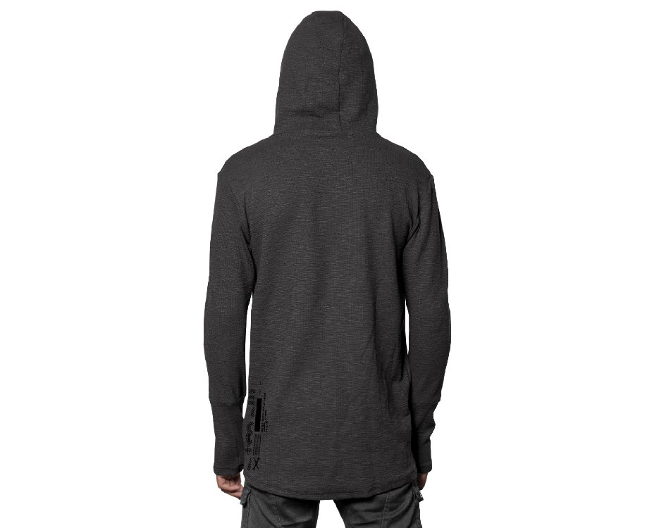 GREY URBAN JAPANESE STYLE MEN HOODIE