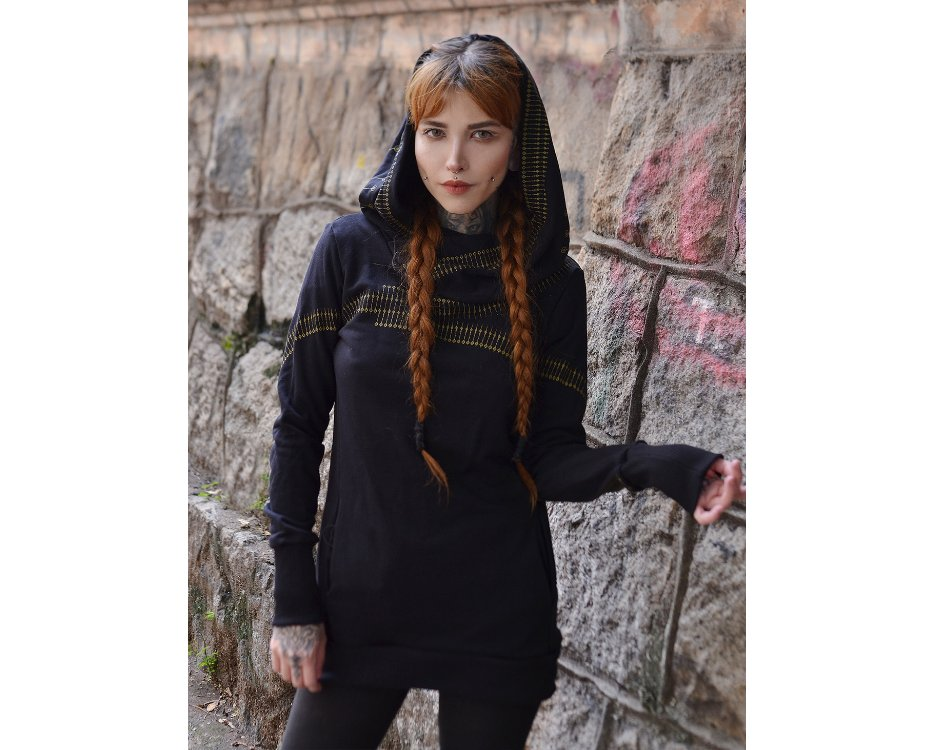 Urban street Lilith black hoodie for women