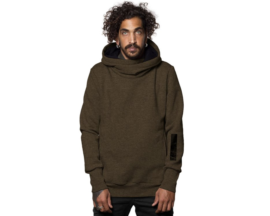 Urban style Twizy brown mouline hoodie for men