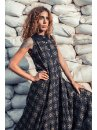 Street wear urban black maxi dress for women